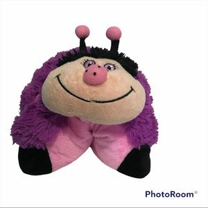 Pillow Pets Caterpillar Purple Pink Authentic ECU 2010 Retired Collectable Gift
